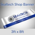 Sealtech Shop Banner 3×8 Foot